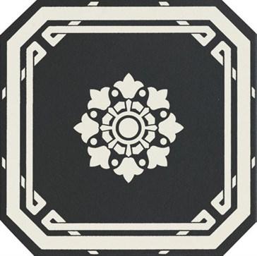 OEODB1 Ottagono Black Dover 20x20