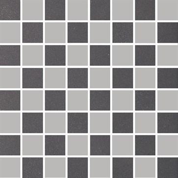 MOR16 Mosaico Coal-Silver 30x30