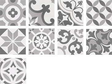 107946 Cement Tradition Decor Mix Grey 18,5x18,5
