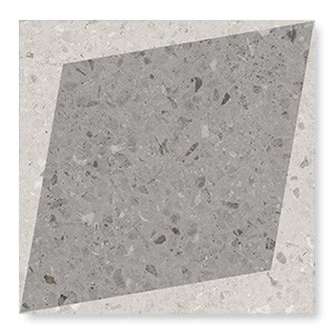 108805 Drops Natural Rhombus Decor Grey 18,5x18,5