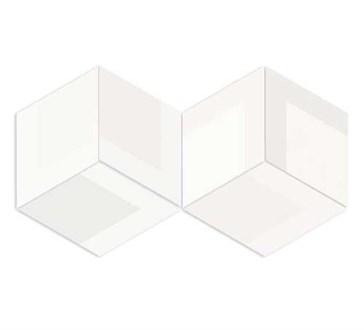117357 Flow Diamond Decor White 14x24