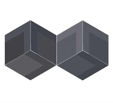 117360 Flow Diamond Decor Black 14x24
