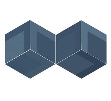 117358 Flow Diamond Decor Blue 14x24