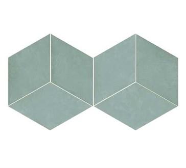 117394 Mud Diamond Teal 14x24