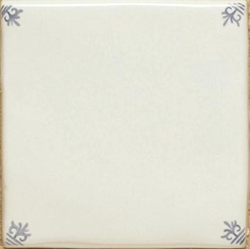 W.DE1001 Фон Delft White Blanc with Corners 12,7x12,7