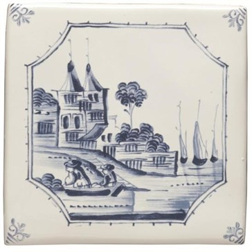 W.DE1516HP Декор Delft River Scenes Waterfront 12,7x12,7