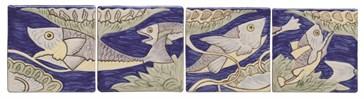 W.HP1260 Бордюр Fish Frieze William De Morgan (набор 4шт.)  10,5x10,5