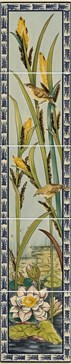 6009B Birds and Rushes 5-tile set 15,2x15,2