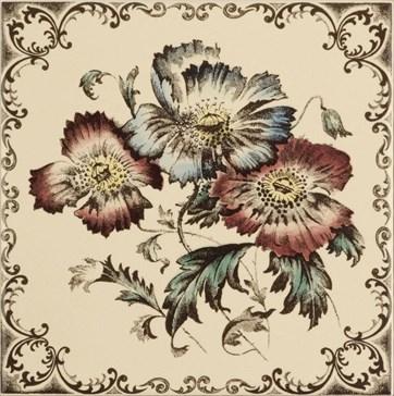 6011B Poppies, scroll border 15,2x15,2