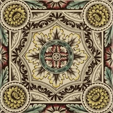 6012B Symmetrical Floral Pattern 15,2x15,2