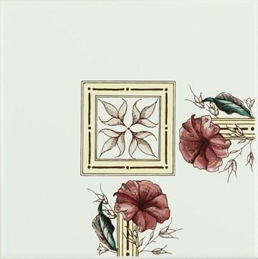 6030A Plant&Urn corner tile 15,2x15,2