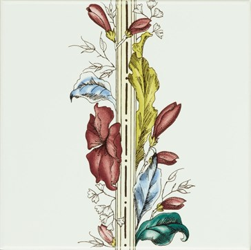 6031A Plant&Urn border tile (flower LHS) 15,2x15,2