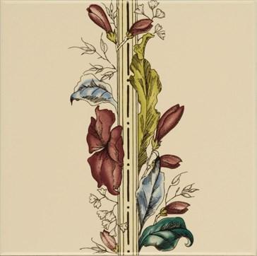 6031B Plant&Urn border tile (flower LHS) 15,2x15,2