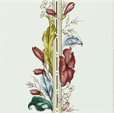 6032A Plant&Urn border tile (flower RHS) 15,2x15,2