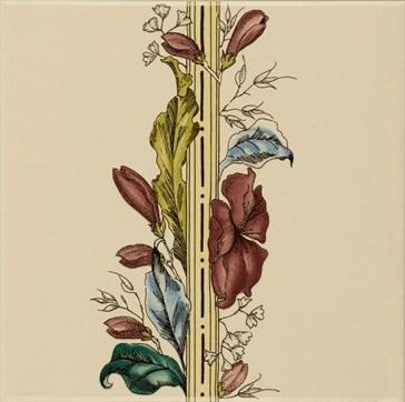 6032B Plant&Urn border tile (flower RHS) 15,2x15,2