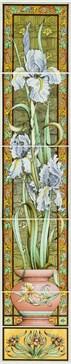 6080A Blue Iris 5-tile set 15,2x15,2