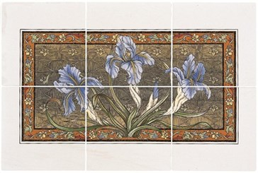 6084A Blue Iris 6-tile panel 15,2x15,2