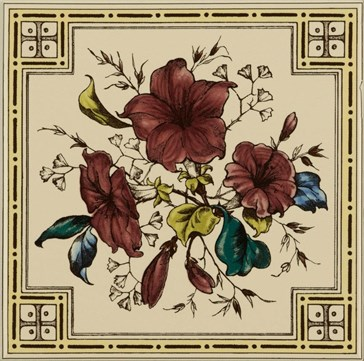 6092B Plant&Urn single tile 15,2x15,2