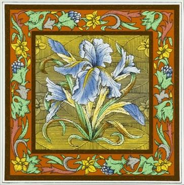6093A Blue Iris single tile 15,2x15,2