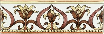 6384A Art Nouveau Lily pink 15,2x5