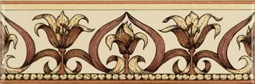 6384B Art Nouveau Lily pink 15,2x5