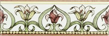 6385A Art Nouveau Lily green 15,2x5