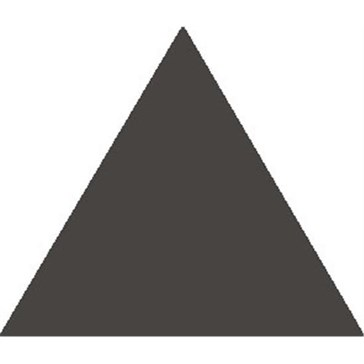6318V Плитка треугольная Black Equilateral Triangle 11,6x10,4x10,4