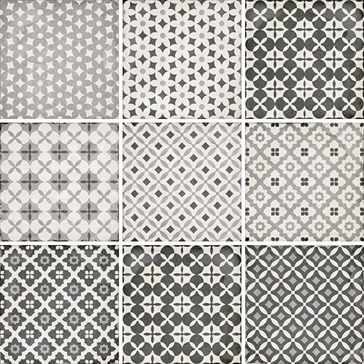 24420 Art Nouveau Alameda Grey 20x20
