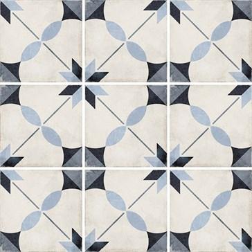 24411 Art Nouveau Arcade Blue 20x20