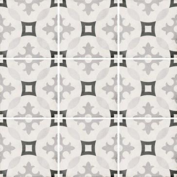 24417 Art Nouveau Karlsplatz Grey 20x20