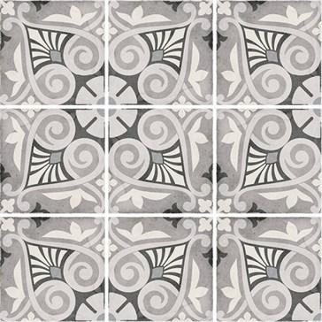 24418 Art Nouveau Opera Grey 20x20