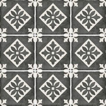 24416 Art Nouveau Padua Black 20x20