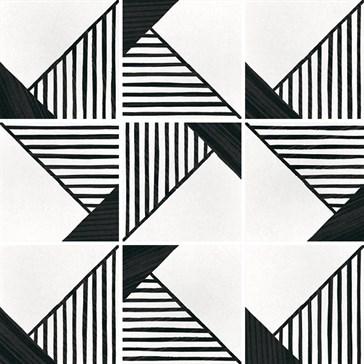 22127 Caprice Deco Origami B&W 20x20