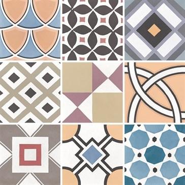 22104 Caprice Deco Patchwork Colours 20x20