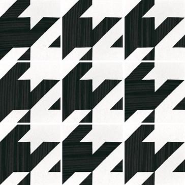 22128 Caprice Deco Tweed B&W 20x20