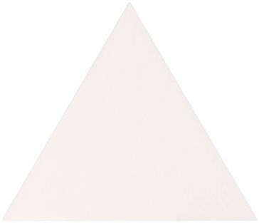 23811 Scale Triangolo White Matt 10,8x12,4