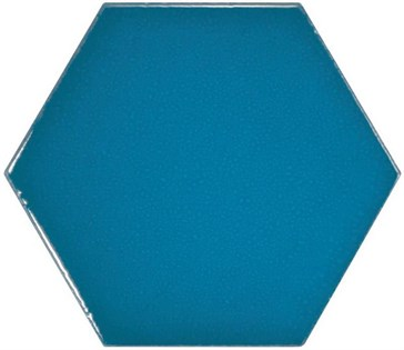 23836 Scale Hexagon Electric Blue 12,4x10,7