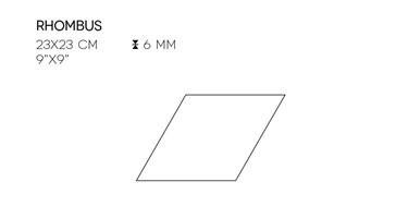 XRHO360X6 White Rhombus 23x23