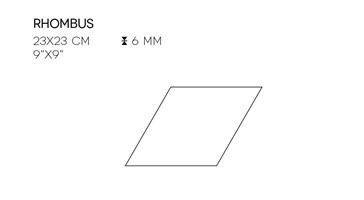 XRHO364X6 Cream Rhombus 23x23