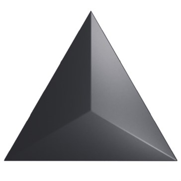 218242 Traingle Level Black Matt 15x17