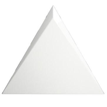 218244 Triangle Cascade White Glossy 15x17