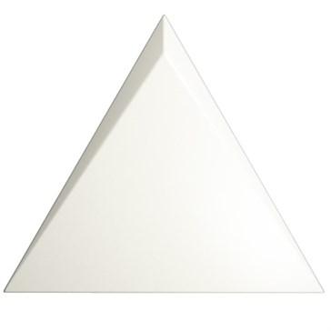 218245 Triangle Cascade White Matt 15x17