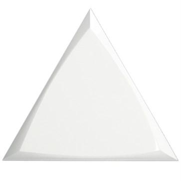 218248 Traingle Channel White Glossy 15x17