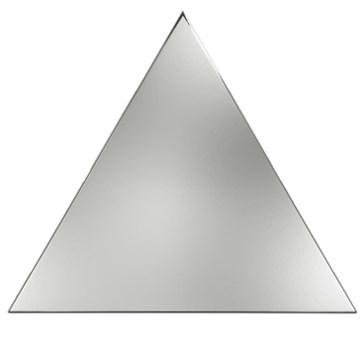 218357 Traingle Layer Silver Glossy 15x17