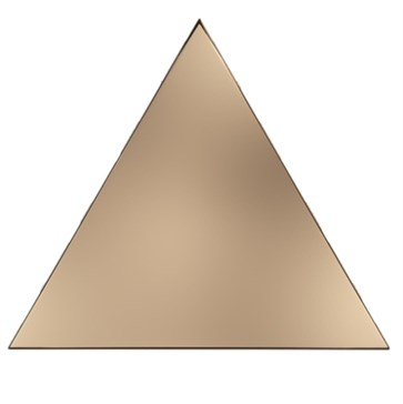 218358 Traingle Layer Copper Glossy 15x17