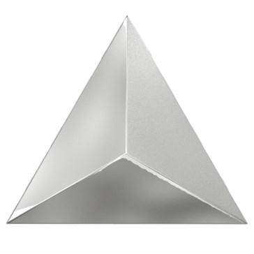 218363 Traingle Level Silver Laser Glossy 15x17