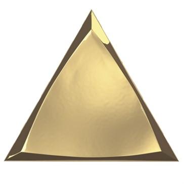 218368 Traingle Channel Gold Glossy 15x17