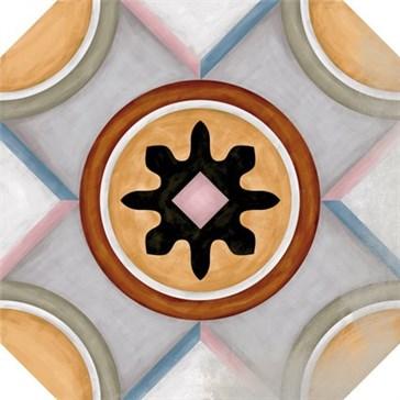 Octogono Musichalls Multicolor MIX 20x20