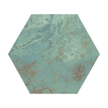 Green Natural Hexagon 25x29