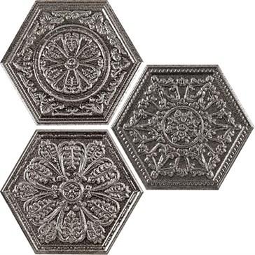 Silver Mix Decor Hexagon 25x29